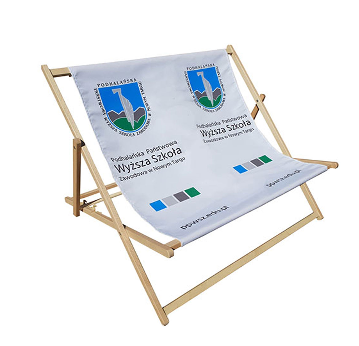 duo double person deckchair printed